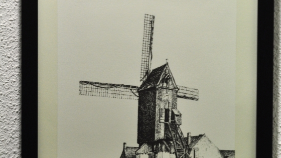 pentekening van windmolen door coolsaet_marcel