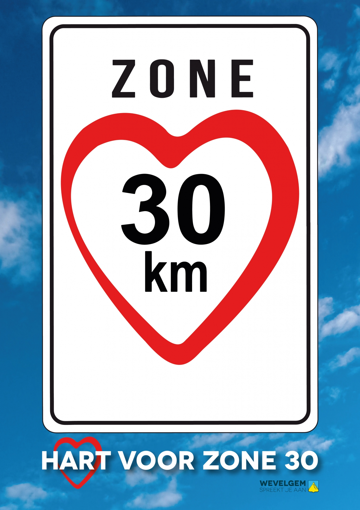 affiche a3 hart voor zone 30